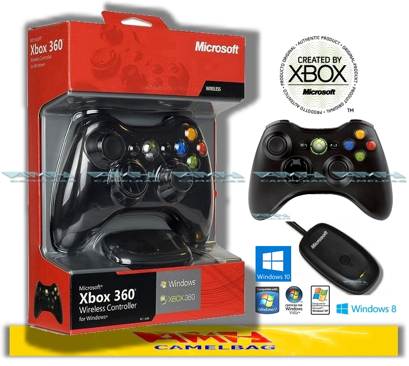 Original Microsoft Xbox 360 Wireless Controller und USB Receiver ...